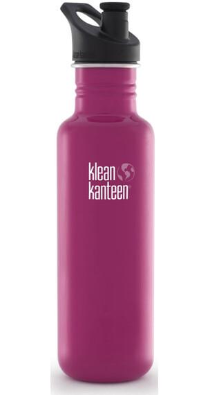 Klean Kanteen Classic Drinkfles met Sport Cap, 800 ml roze